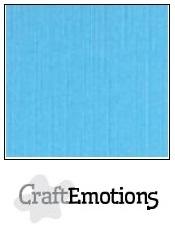 CraftEmotions linnenkarton aqua 30,5x30,5cm