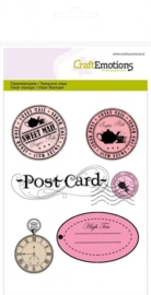 CraftEmotions clearstamps A6 - stempels en label High Tea Rose