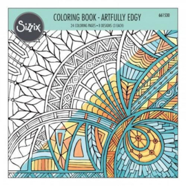 Sizzix Colouring Book - Artfully Edgy 661530 Jen Long