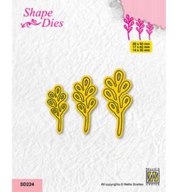 Nellie`s Choice - SD224 - Set of 3 Branches-3