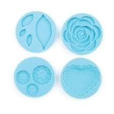 Martha Stewart silicone mold romantic x4