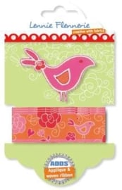 Lennie Flennerie - Adds - Applique + Ribbon Bird 203.303.002