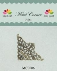 Dixi Craft Metal Corner 35x35 mm goud - MC0006