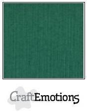 CraftEmotions linnenkarton kerstgroen 27x13,5cm 250gr