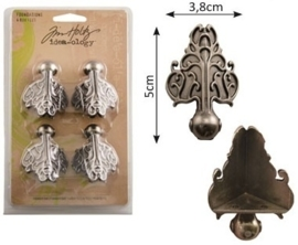 Advantus Tim Holtz foundations box feet x4 antique nickel