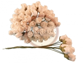 Middle Semi Open Rose Buds - Ivory