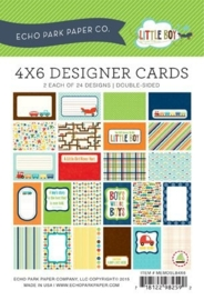 Echo Park 4x6 Inch Little Boy Designer Cards (MEMOSLB4x6)