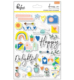 Pinkfresh Studio Dream On: Studido puff stickers