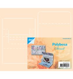 Joy! Crafts - 6005/0011 - Polybesa stencil - Envelop voor kadokaart