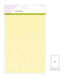 CraftEmotions fluweelstructuurkarton 10 vel ivoor A4 250gr