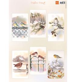 Marianne D Knipvel - MB0196 - Mattie's mooiste Slimline birds