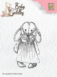 Nellie`s Choice Clearstamp - Baby Cuddles Cuddly girl CSBC002