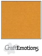 CraftEmotions linnenkarton okerbruin 30,5x30,5cm