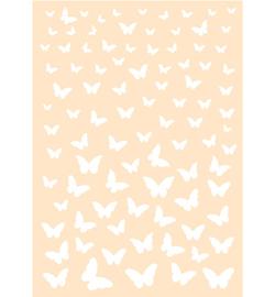Joy! Crafts - 6002/0870 - Polybesa Achtergrondstencil - Vrolijke Vlinders