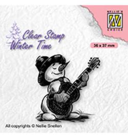 Nellie`s Choice - WT008 - Snowman with guitar