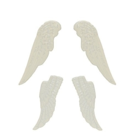 ScrapBerry's Metal Set Of Wings, White (SCB341102)