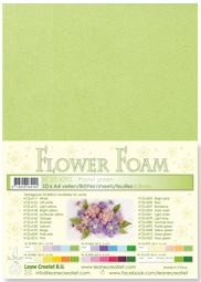 LeCrea - 10 Flower Foam sheets A4 pastel groen 25.4292 0.8mm