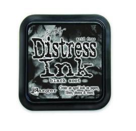 Ranger Distress Inks pad - black soot stamp pad TIM19541 Tim Holtz
