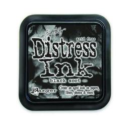 Ranger Distress Inks pad - black soot stamp pad TIM19541 Tim Holtz