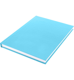 15596 - Dummyboek, blanco hard cover, blauw pastel