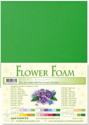 LeCrea - 10 Flower Foam sheets A4 gras groen 25.4315 0.8mm