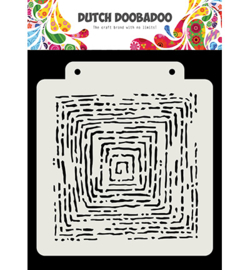 Dutch Doobadoo - 470.715.175 - Dutch Mask Art Grunge lines