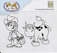 "LILA 007 Clear Stamps Lars en Lilly ""Farmer"""