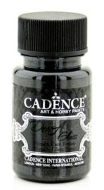 Cadence Dora Glas & Porselein verf Metallic Zwart 01 013 3131 0050 50 ml