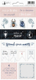 Piatek13 - Sticker sheet New moon 02 P13-361 10,5x23 cm