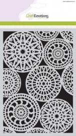 Mask stencil - Fantasy cirkelpatroon