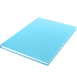 15590 - Dummyboek, blanco hard cover, blauw pastel