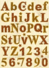 Chipboard alfabet - CB-3001