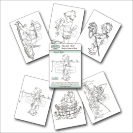 The Hobby House Elisabeth Bell Ready to Colour Art Book - Summer Daze