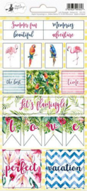 Piatek13 - Sticker sheet Let's flamingle 02 P13-279 10,5x23 cm