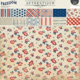 Collection Paper Pad - Authentique Freedom 12x12 Inch - (FREE111)