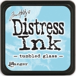 Tim Holtz distress mini ink tumbled glass