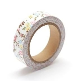 ScrapBerry's Cotton Tape With Floral Print 15 mm x 4 m (SCB490038)