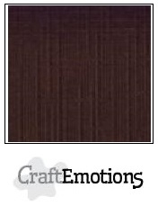 CraftEmotions linnenkarton chocolade 30,5x30,5cm