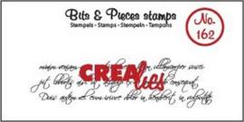 Crealies Clearstamp Bits & Pieces krullend handschrift 3 lijnen CLBP162 21 x 75mm