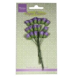 Marianne Design - Paper Flowers - Roses bud - dark lavender