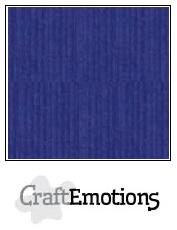 CraftEmotions linnenkarton - saffierblauw LHC-56 A4 250gr