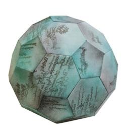 Verpakkings sjabloon,30x30cm Voetbal