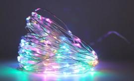 Wijnflesstop 2 M 20 Leds - Gekleurd (excl. batterijen)