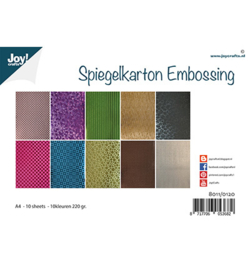 Joy! Crafts - 8011/0120 - Spiegelkarton Embossing - 10 designs - 10 kleuren