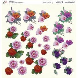Crea Motion - 30x30 - 3D knipvel - Flowers 8