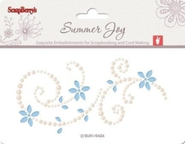 ScrapBerry's Pearls Swirl Summer Joy 3 6,5x12 cm (SCB341503)