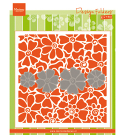Marianne D Embossing 3D Design Folder DF3452 - Poppies