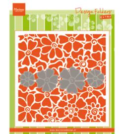 Marianne D Embossing 3D Design Folder DF3452 - Poppies