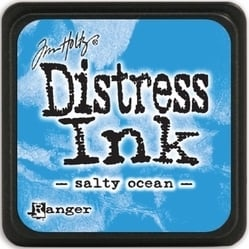 Tim Holtz distress mini ink salty ocean