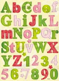Chipboard alfabet - CB-3004
